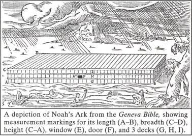 Geneva Bible depiction of Noah's Ark
